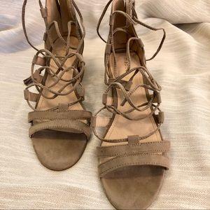 Madden Girl Suede Strappy Sandals